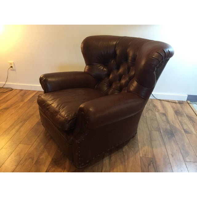 Ralph Lauren Leather Writer S Chair Chairish
