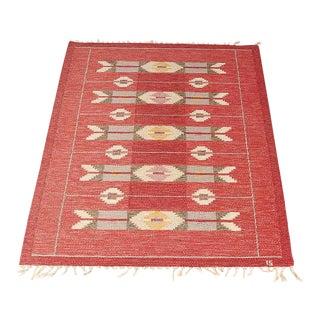 Ingegerd Silow Swedish Handmade Rollakan Flatweave Carpet