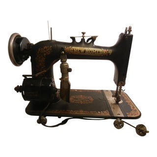 1920 's Antique New Home Sewing Machine