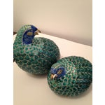 Image of Vintage Chinese Export Porcelain Partridges - Pair