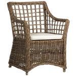Wicker Lattice Dining Chair