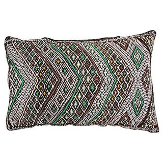 Maroon & Green Patterned Moroccan Sham Pillow