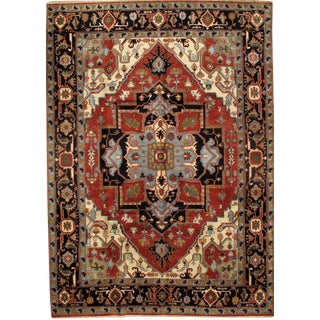 """Pasargad N Y Indo Hand-Knotted Serapi Rug - 10' X 13'10"""""""