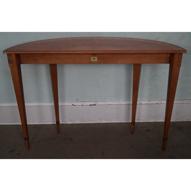 Image of Kindel Irish Georgian Collection Inlaid Demilune Console Table