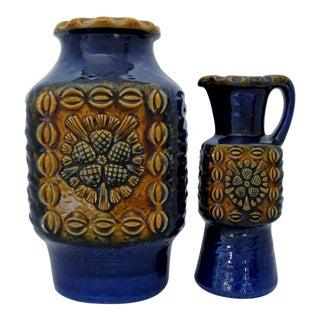 Vintage West German Vases - A Pair