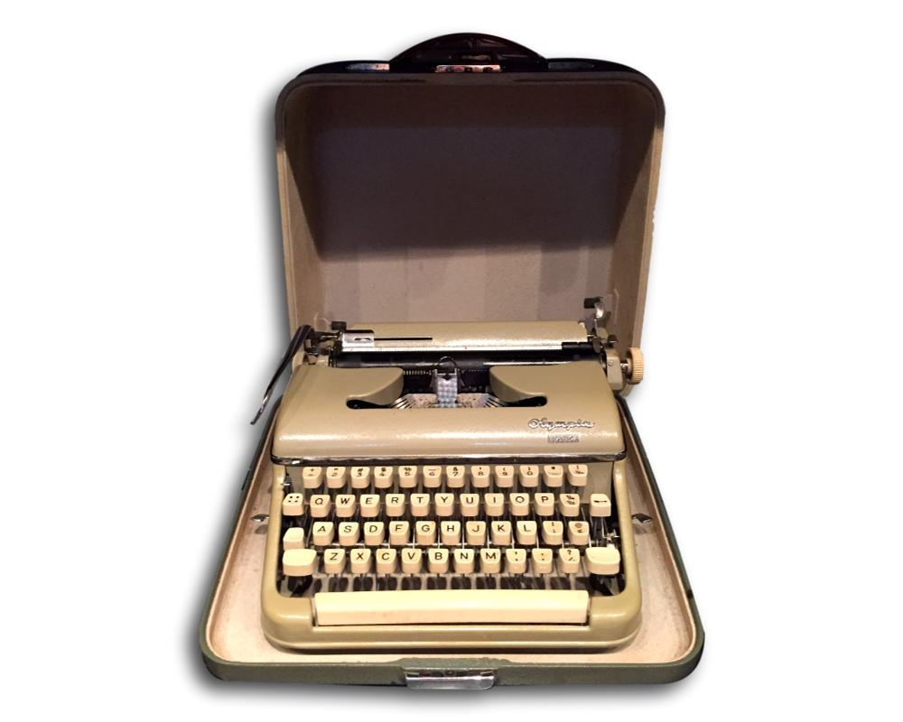 Vintage Olympia Monica Portable Typewriter Chairish