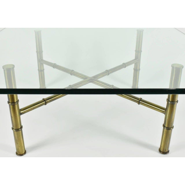 Faux Bamboo Coffee Table Attributed to Mastercraft - Image 8 of 8