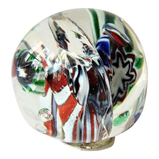 Hand Blown Art Glass Paperweight