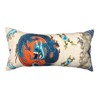 Chinese Emperor's Opera Robe Dragon Pillow