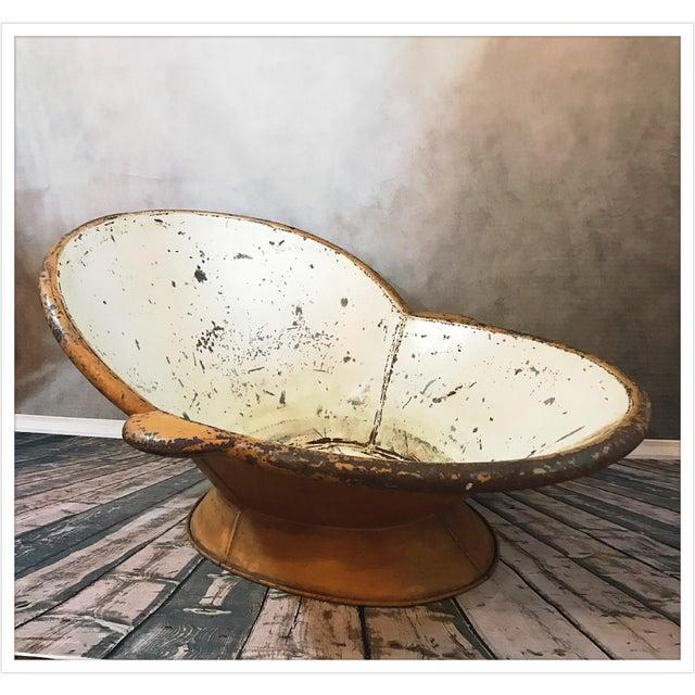 Antique French Zinc Bathtub - Image 4 of 11