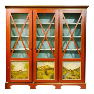 Custom Red Pantry Cabinet