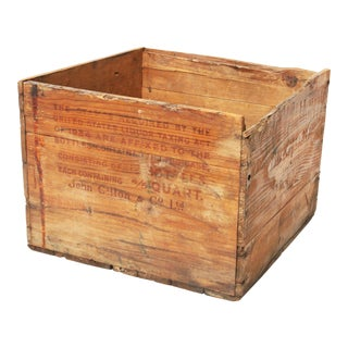 Vintage Scotch Whiskey Wood Shipping Crate