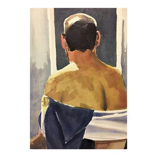 Male Nude Watercolor Study