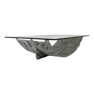 Monumental Aluminum Brutalist Coffee Table