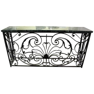 Reclaimed French Parisian Ironwork Balcony Console