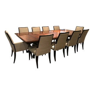 Karges Dining Table and 10 Baker Chairs - Dining Set