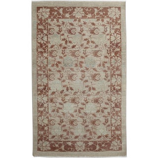 """Oushak Hand Knotted Area Rug - 4'9"""" X 7'10"""""""