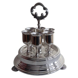 Taunton Silver Cordials & Caddy Holder