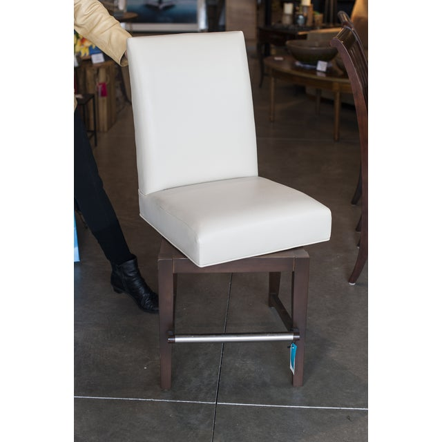 Lazar Leather Counter Stools- A Pair - Image 2 of 5
