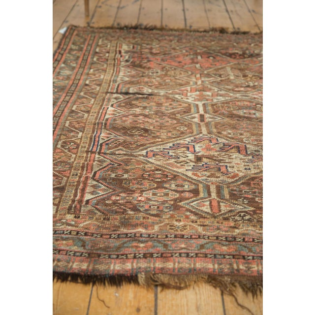 "Antique Kamseh Rug - 4'6"" x 6'8"" - Image 10 of 10"