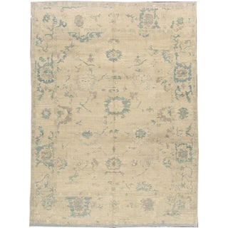 "Turkish Oushak Modern Rug - 10'2"" X 14'"
