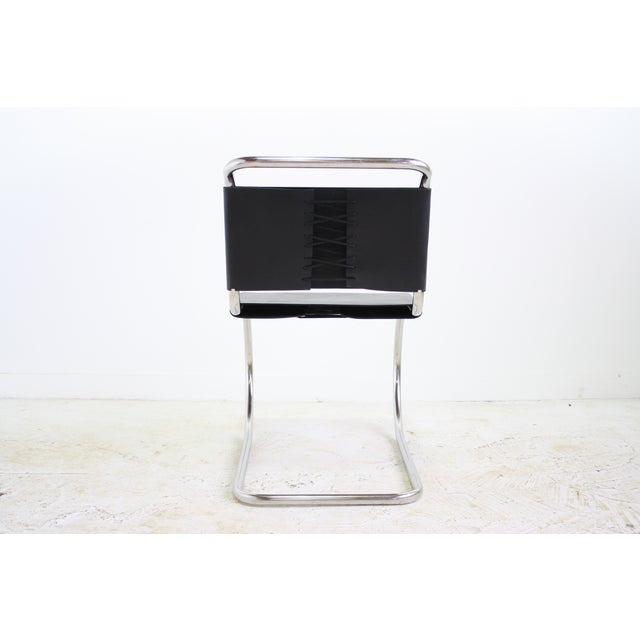 Mies Van Der Rohe Leather Cantilever Chair 5 Avail - Image 4 of 6