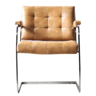1970s Tufted Chair with Chrome Frame