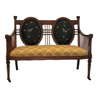 19th Century Louis XVI Double Balloon Back Mahogany Settee