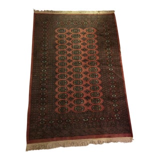 Handknotted Mauve Rug - 4.1' X 6.3'