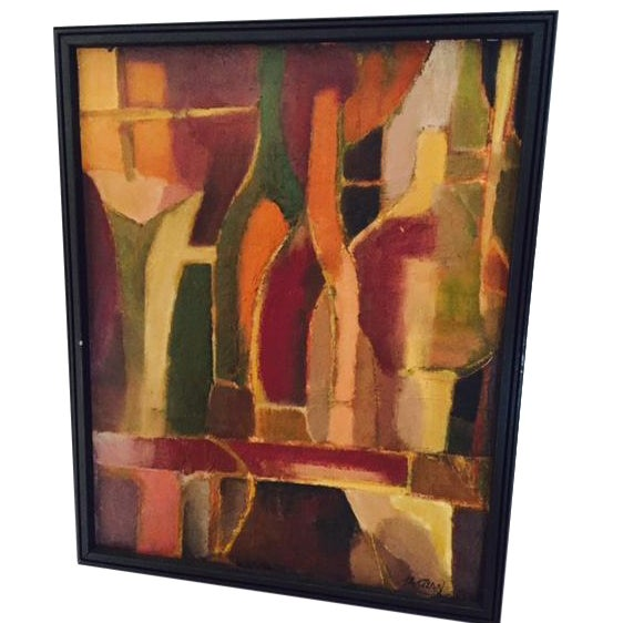 Image of Tavetian Abstract Bottles Painting