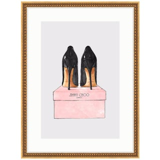 "Oliver Gal's ""Night Out Stilettos"" (Jimmy Choo Heels) Framed Print"