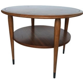 Lane Mid-Century Round Side Table