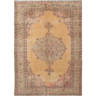 "Vintage Turkish Overdyed Rug - 7'3"" x 10'4"""