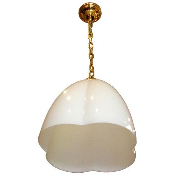 Image of Italian Stilnovo-Style Glass Clover Pendant