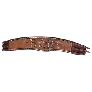 Leather Bronc Belt with B-Star-B Design