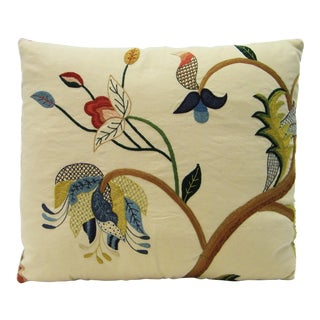 Chelsea Embroidered Linen Pillow