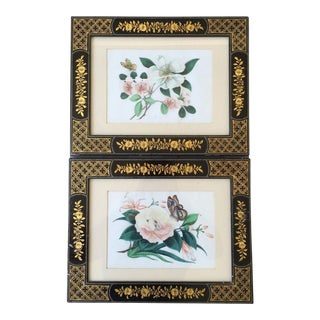 19th C. Chinese Floral Paintings - a Pair