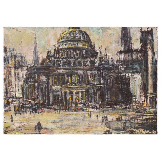 Edwin Becker Paris Opera Impressionist Painting - Image 1 of 9
