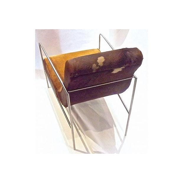 Art Deco Style Cow Hide Upholstered Club Chair - Image 5 of 8