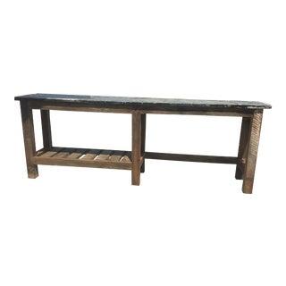 Industrial Repurposed Wood Metal Top Work Table