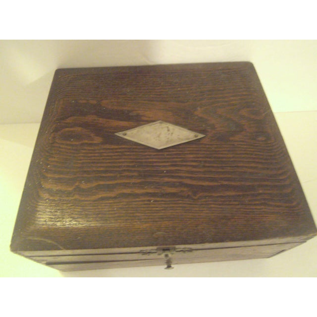 Image of Primative Antique Flatware Box
