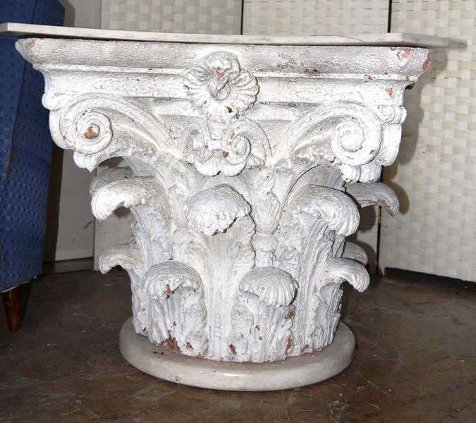 Architectural Corinthian Plaster Capital Table Base   Image 2 Of 11