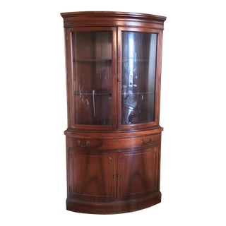 Antique Mahogany Corner China Cabinet