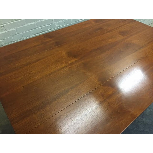 Walnut Mid-Century Danish Modern Dining Table - Image 6 of 7