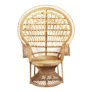 Raw Wicker Peacock Chair