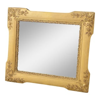 Vintage Ornate Gold Wall Mantle Mirror