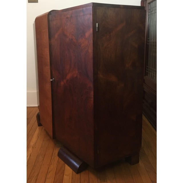 1930s Modernist Art Deco Rosewood Bar Cabinet - Image 5 of 10