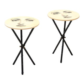 Rare Matching Pair of Side Tables by Piero Fornasetti, Italy, 1950s