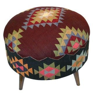 Rug & Relic Large Kilim Ottoman