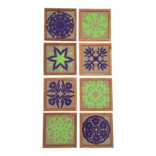Vintage Framed Hand-Cut Folk Art Pieces - Set of 6
